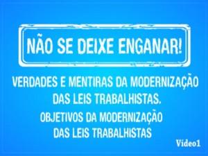 Read more about the article Modernização Trabalhista – Vídeo 1